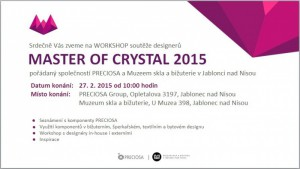 MASTER OF CRYSTAL 2015 - Pozvánka na workshop